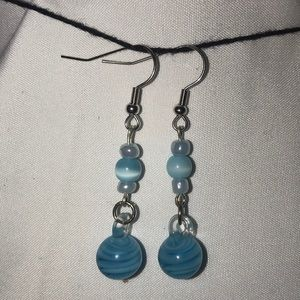 Jewelry - Blue and silver earrings